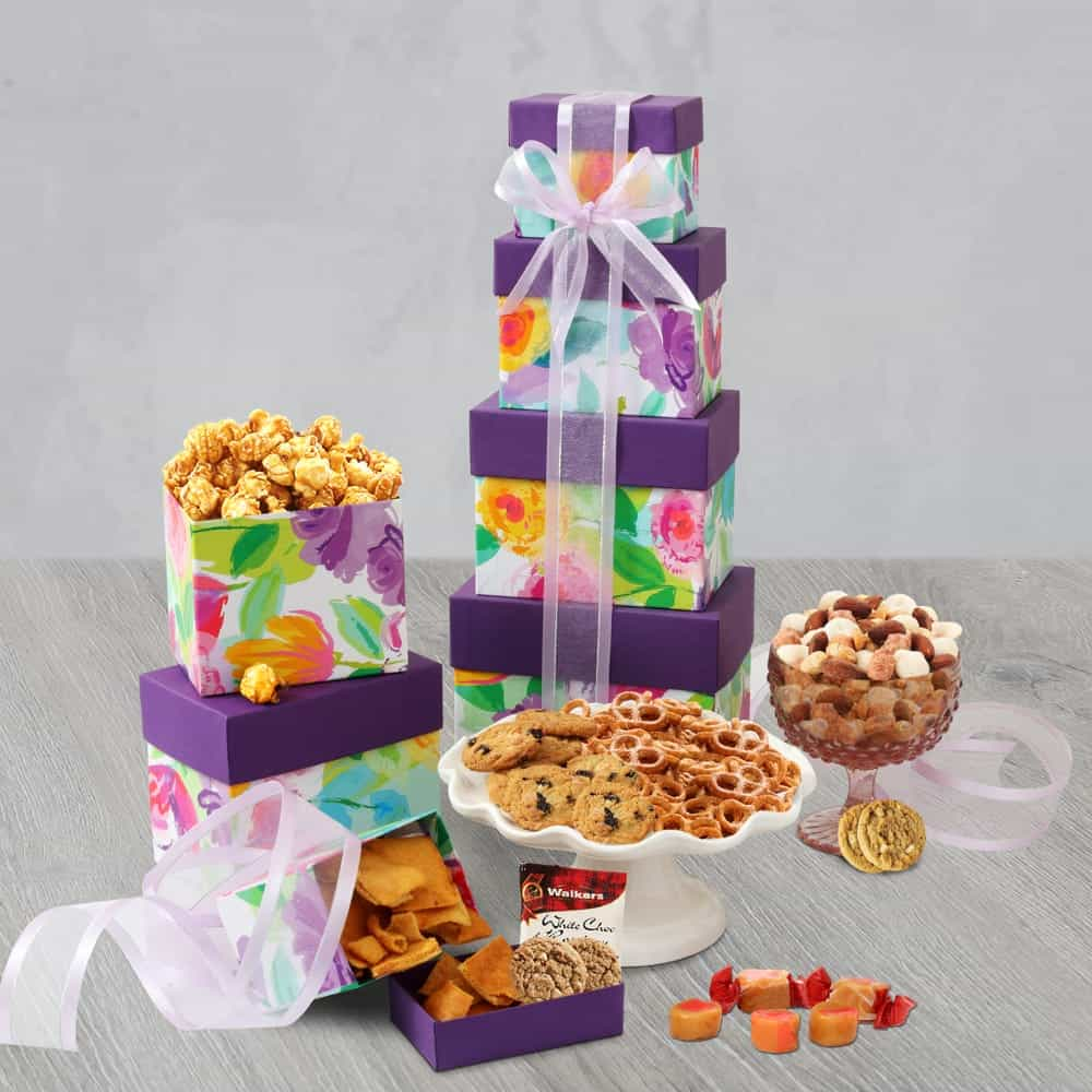 Assorted Sweets and Snacks Gift Tower