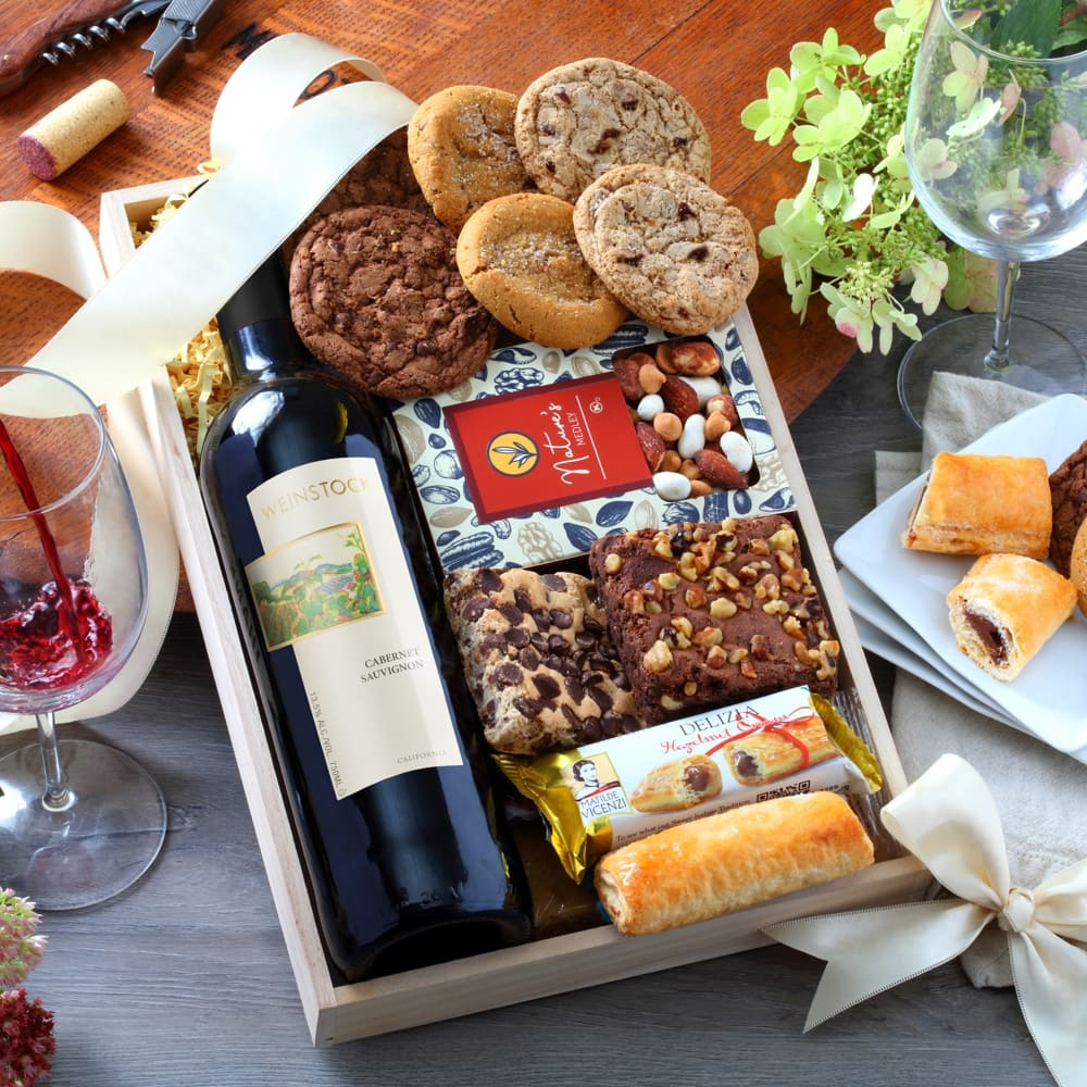 Bakery & Red Wine Gift Tray