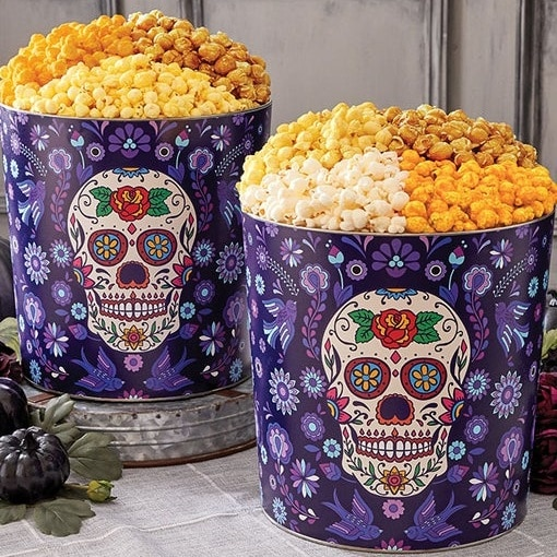 Day of the Dead Popcorn Tin