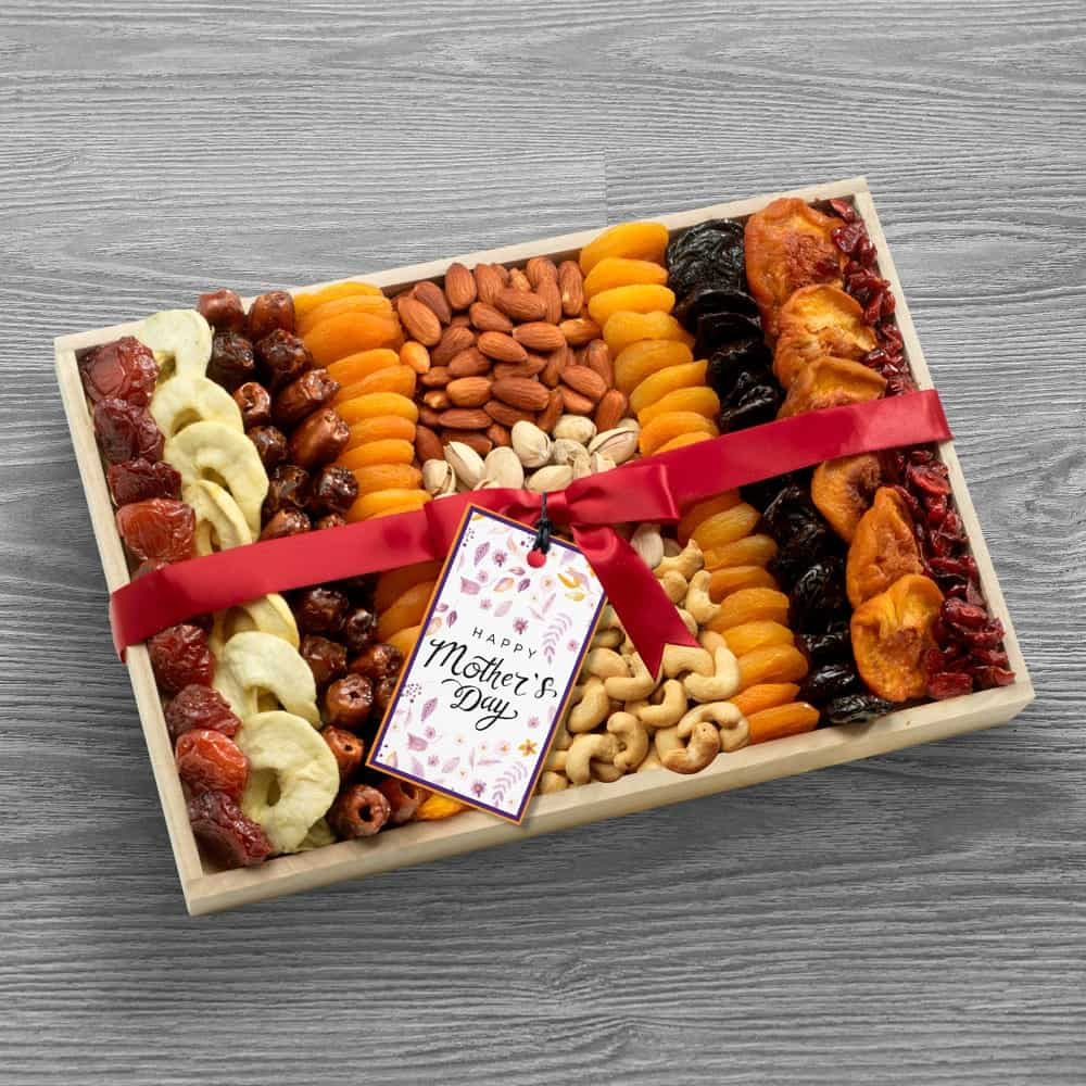 Deluxe Dried Fruit and Nuts Gift for Mom