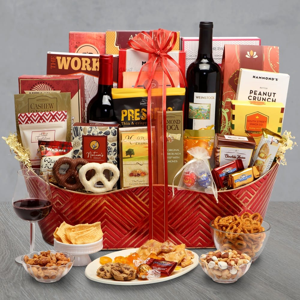 Executive Collection Wine Gift Basket