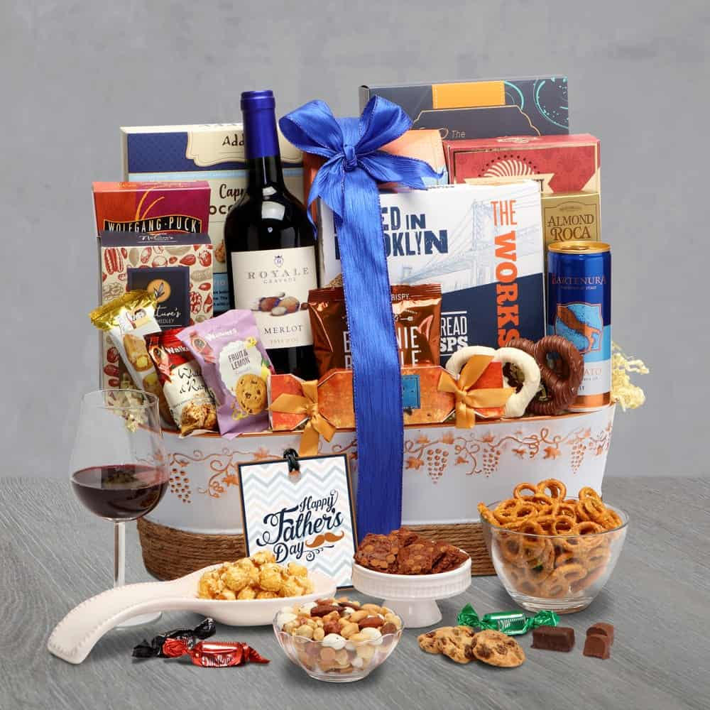 Fathers Day Wine Duo Gift Basket