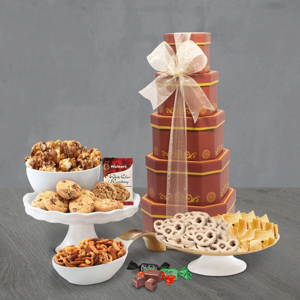 Heavenly Holiday Gift Tower