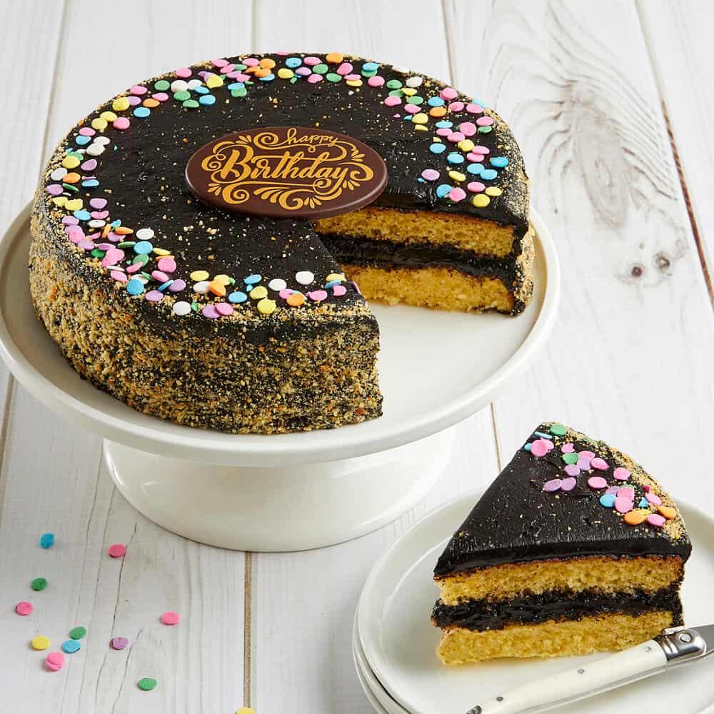 Golden Fudge Birthday Celebration Cake