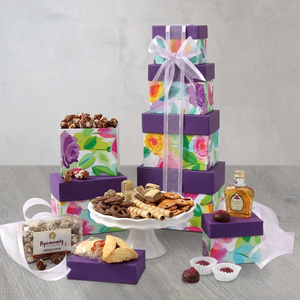 Floral Delight Purim Gift Tower