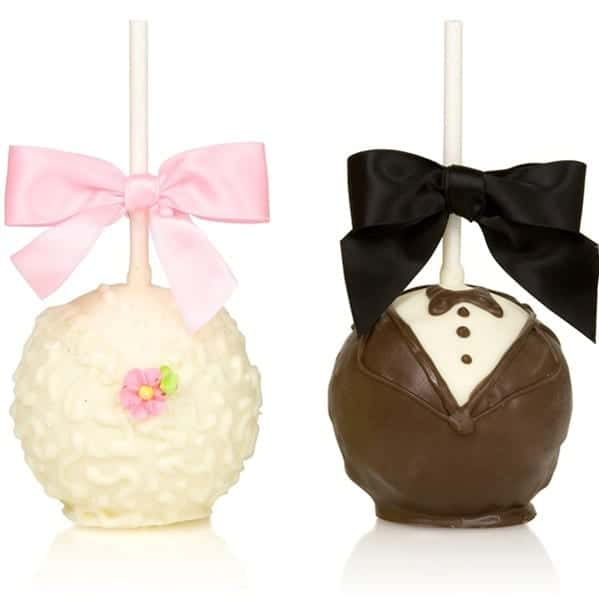 >Wedding Party Caramel Chocolate Dipped Apples