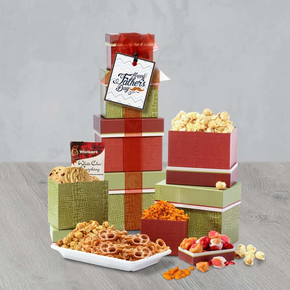 Fathers Day Celebration Gift Tower
