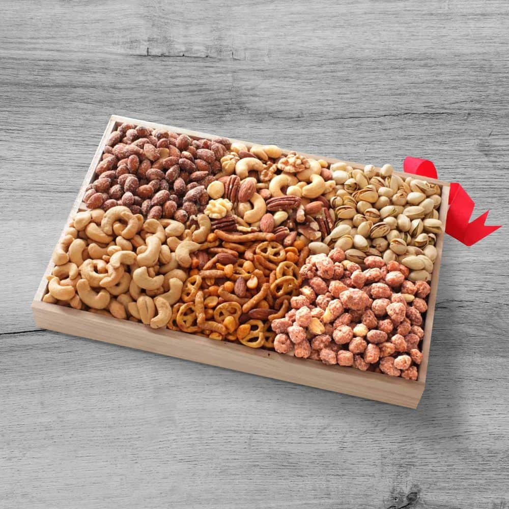 Gourmet Nut Assortment Gift Tray