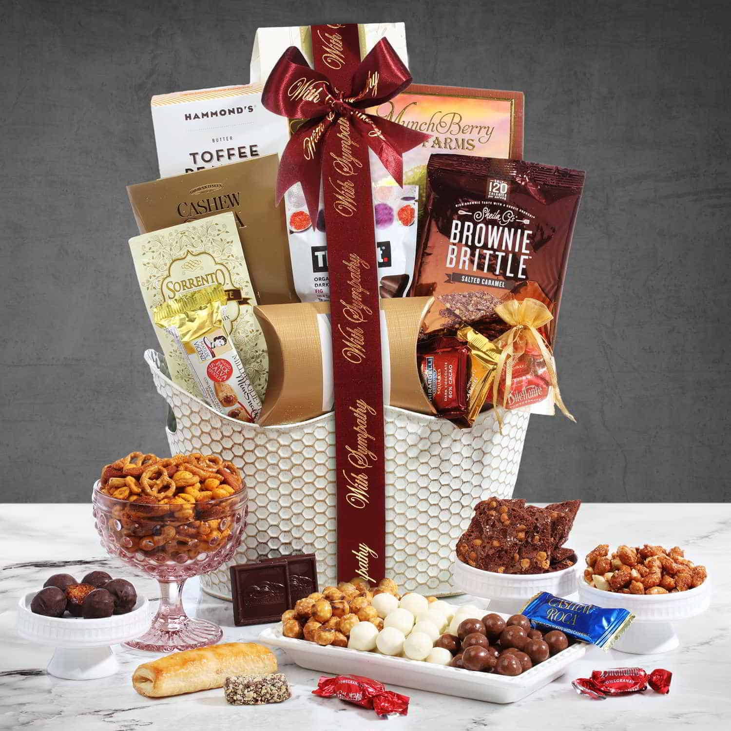 Sympathy Wishes Gift Basket