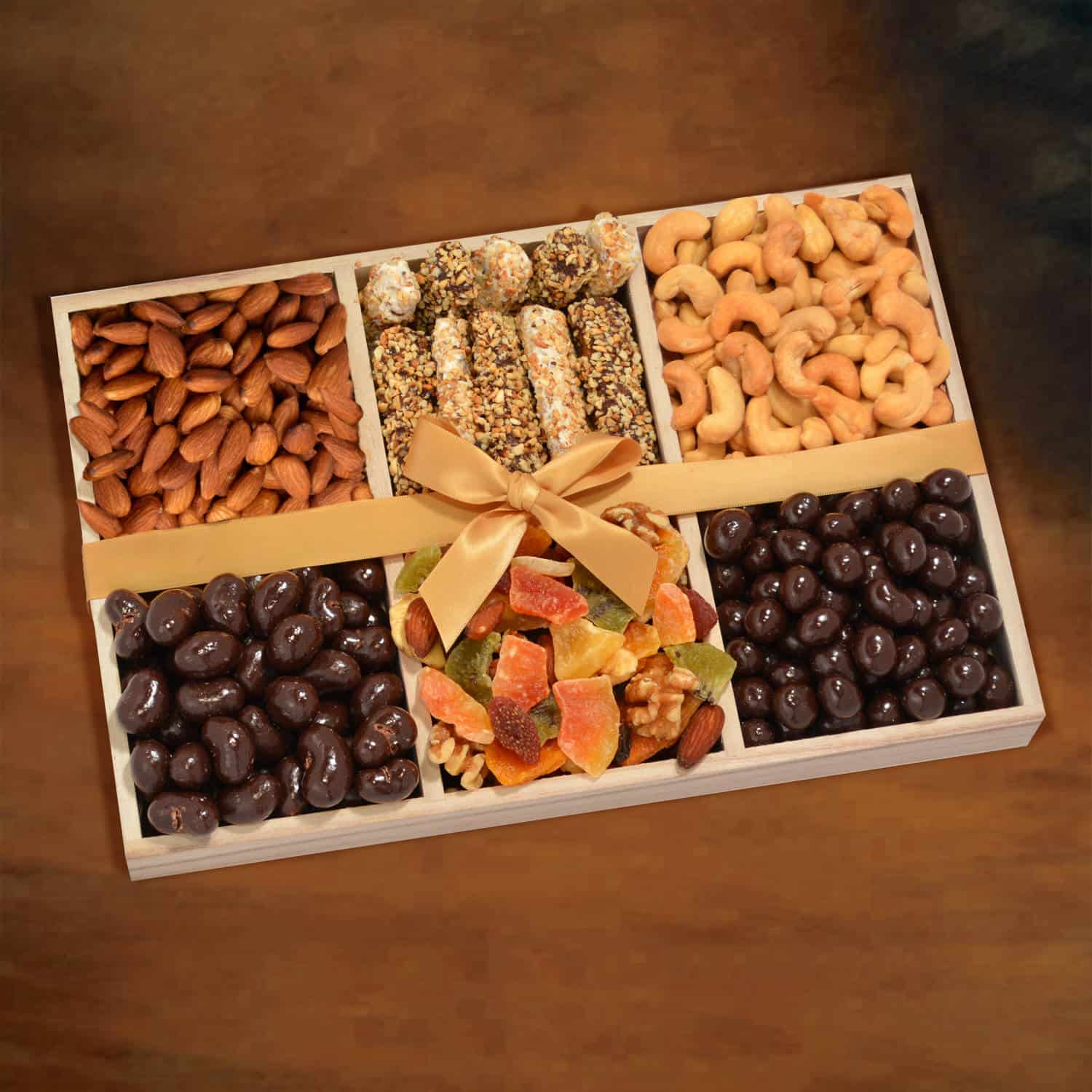 Gourmet Purim Gift Tray with Chocolate & Nuts