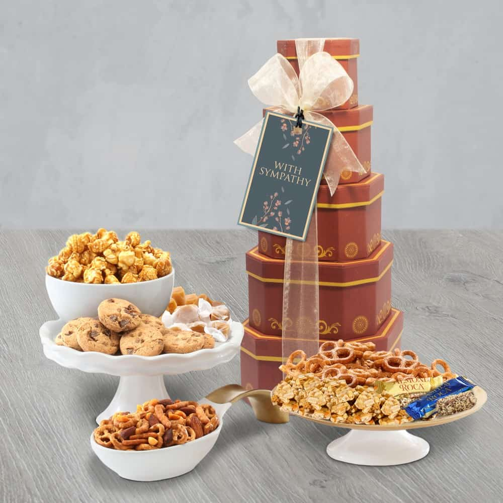 Gourmet Sympathy Gift Tower of Sweets