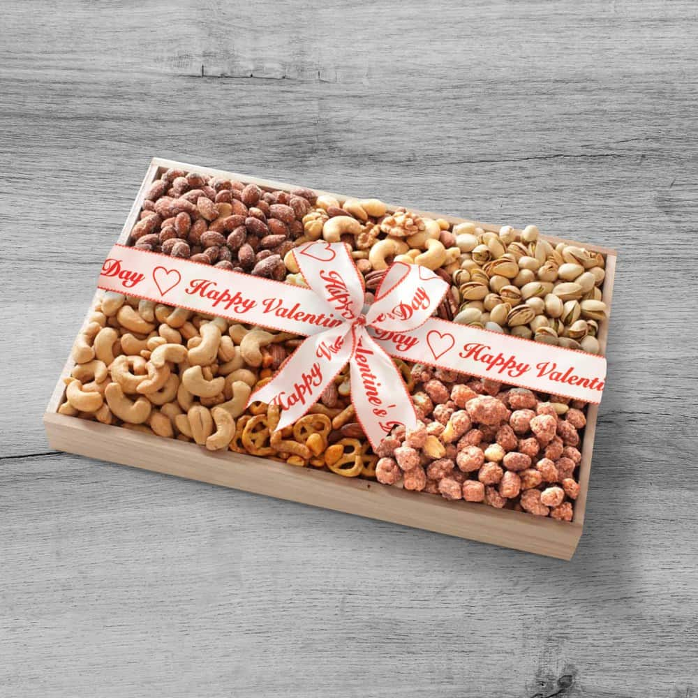 Valentines Day Nut Assortment Gift Tray