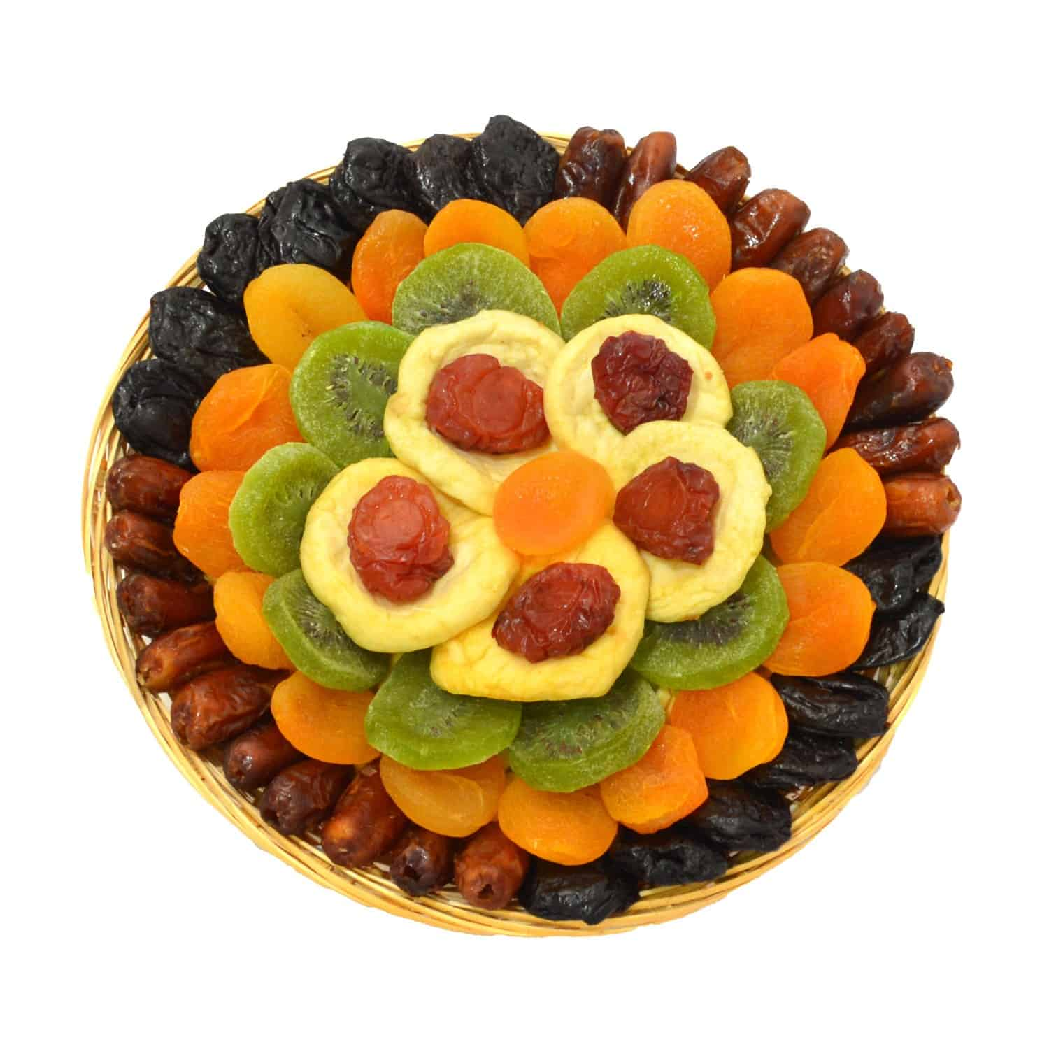 Heart Healthy Floral Dried Fruit Gift Tray