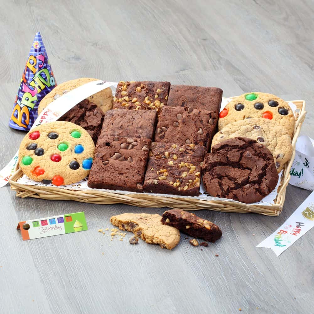 Cookie and Brownie Birthday Tray