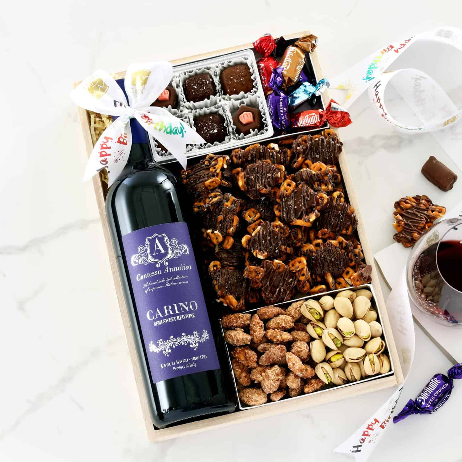 >Birthday Wine Retreat Gift Tray