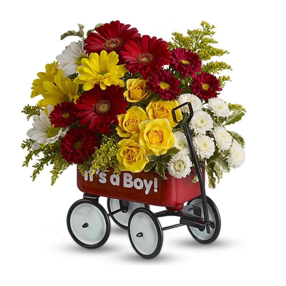 Babys Flower Wagon Boy By Broadwaybasketeerscom