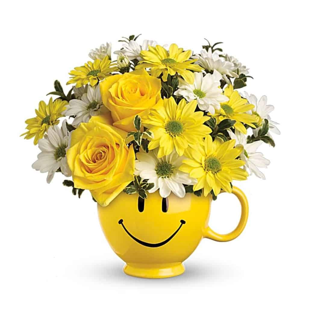 Yellow Roses Happy Bouquet