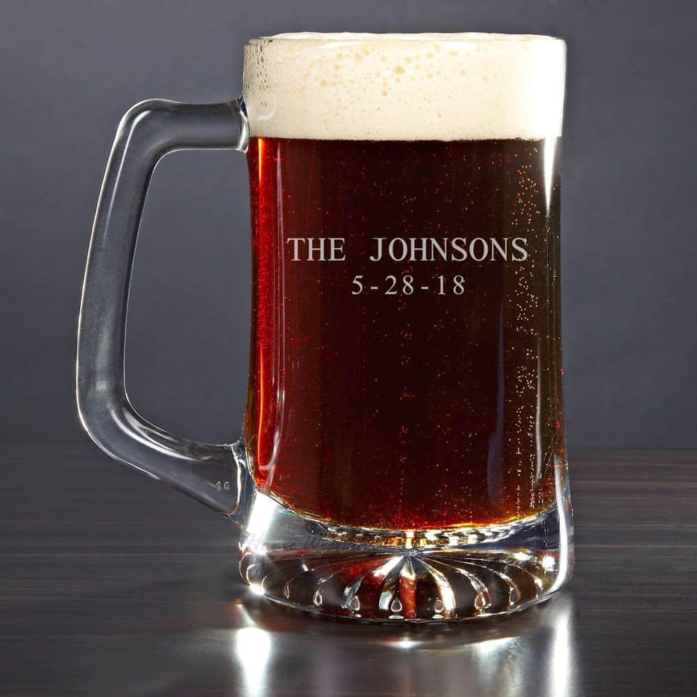 Engraved Beer Mug 25oz