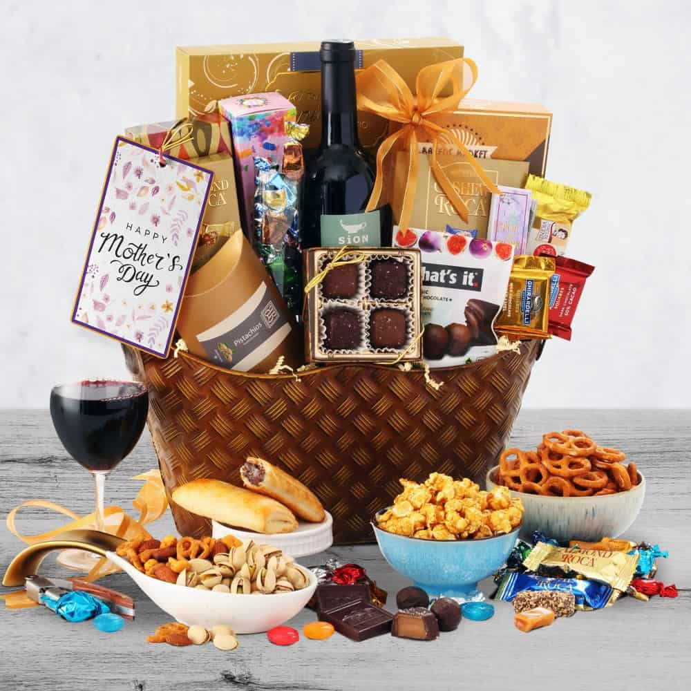 Mothers Day Wine Gift Basket