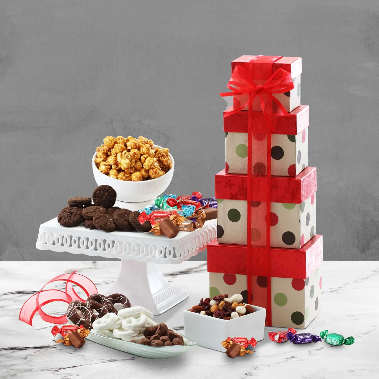 Gourmet Gift Basket Delivery | Holiday Treat Tower