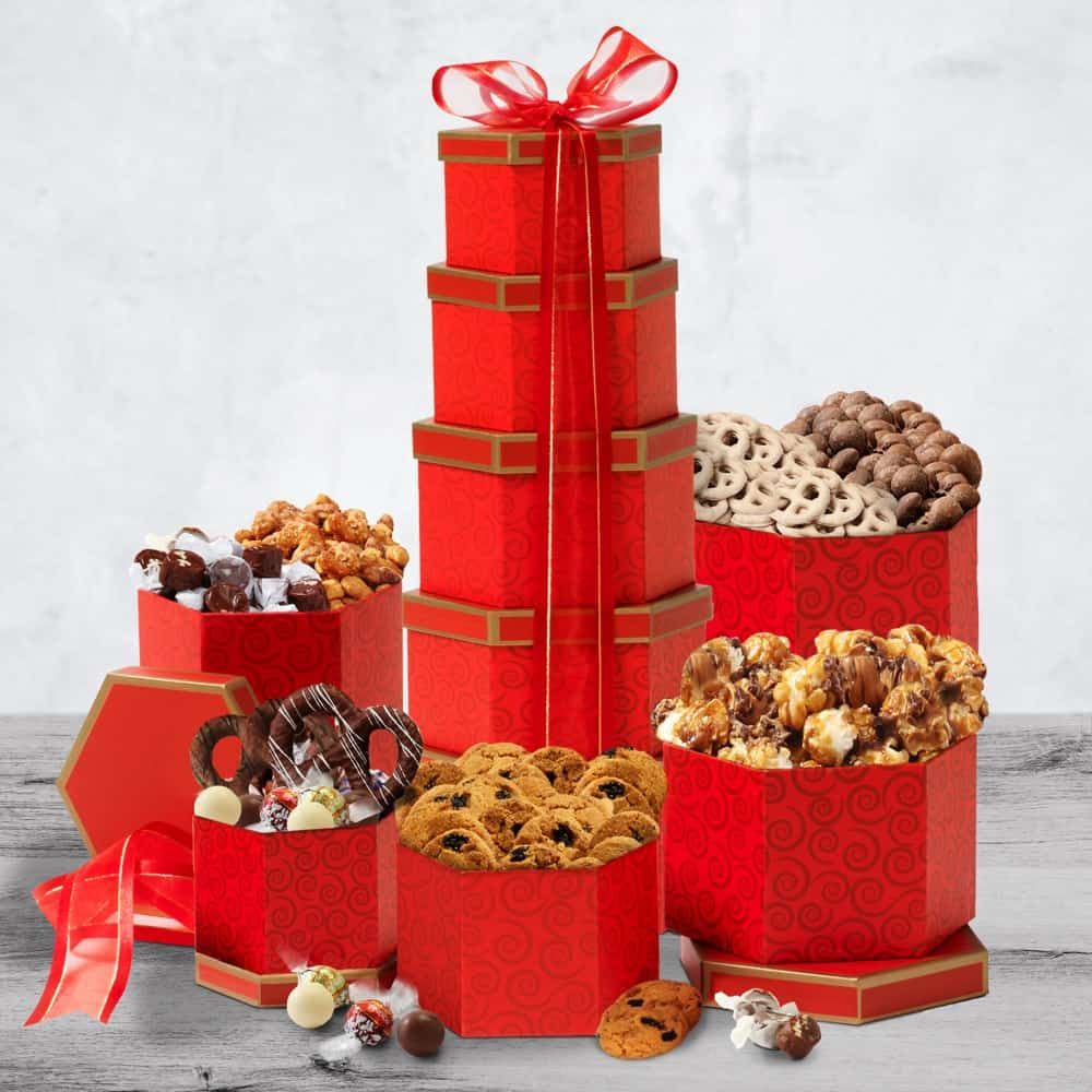 Beloved Ruby Red Gift Tower
