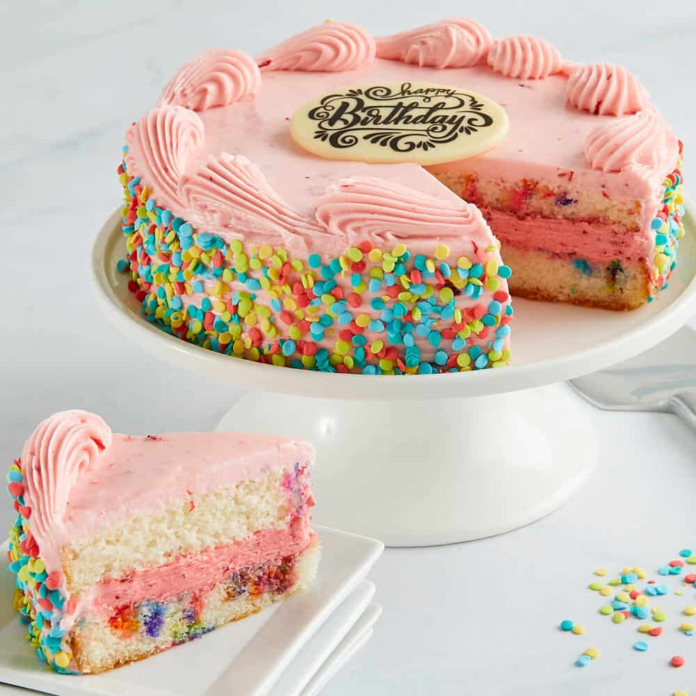 Funfetti Strawberry Birthday Cake