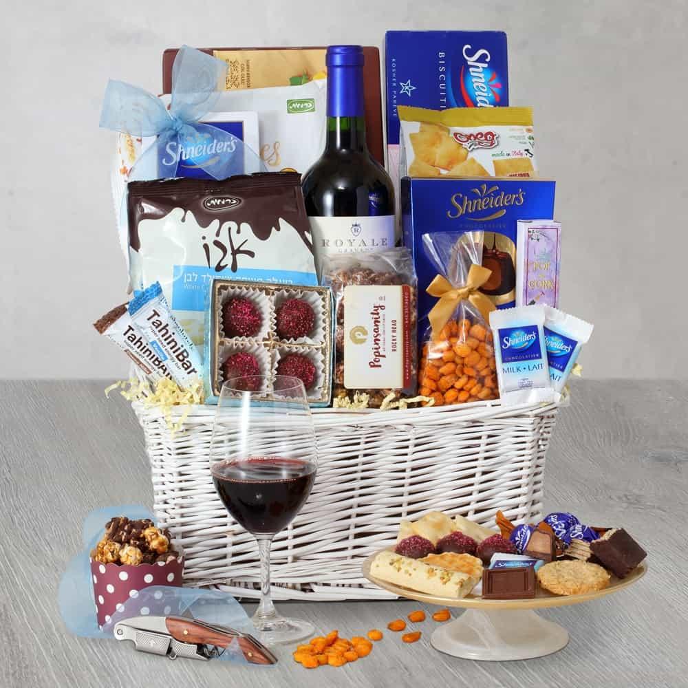 Brilliant Sapphire Purim Wine Gift Basket
