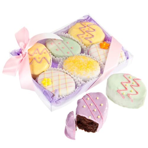 >Easter Egg Brownie Gift Set of 6