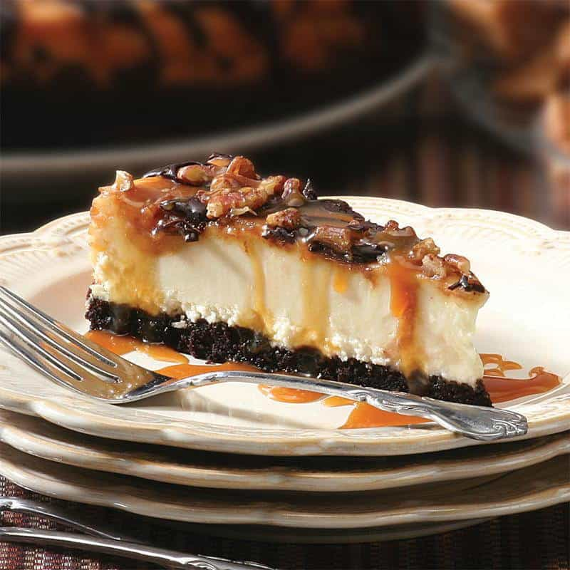 Chocolate Caramel Pecan Cheese Cake