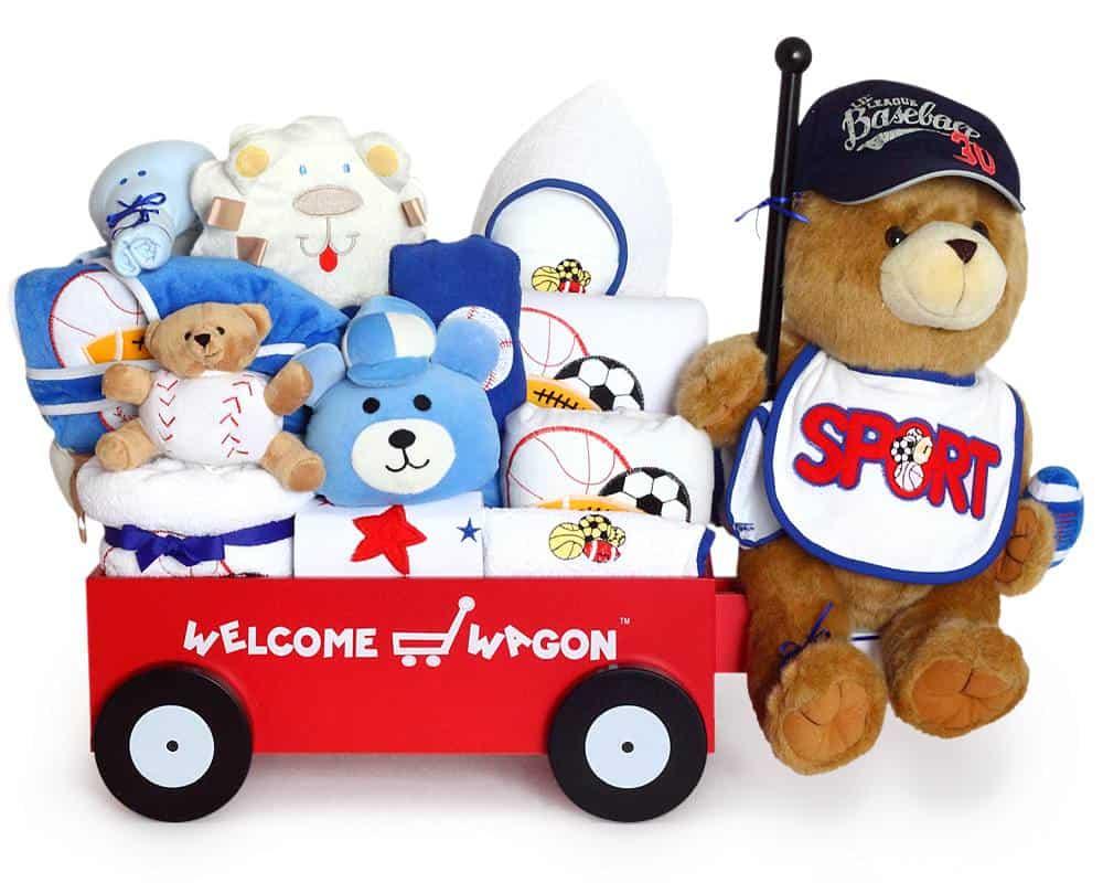 Baby Boy Super Deluxe Welcome Wagon gift