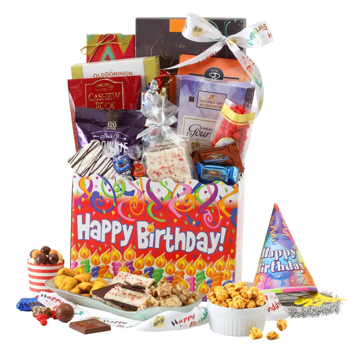 Birthday Celebration Gift Basket By BroadwayBasketeers