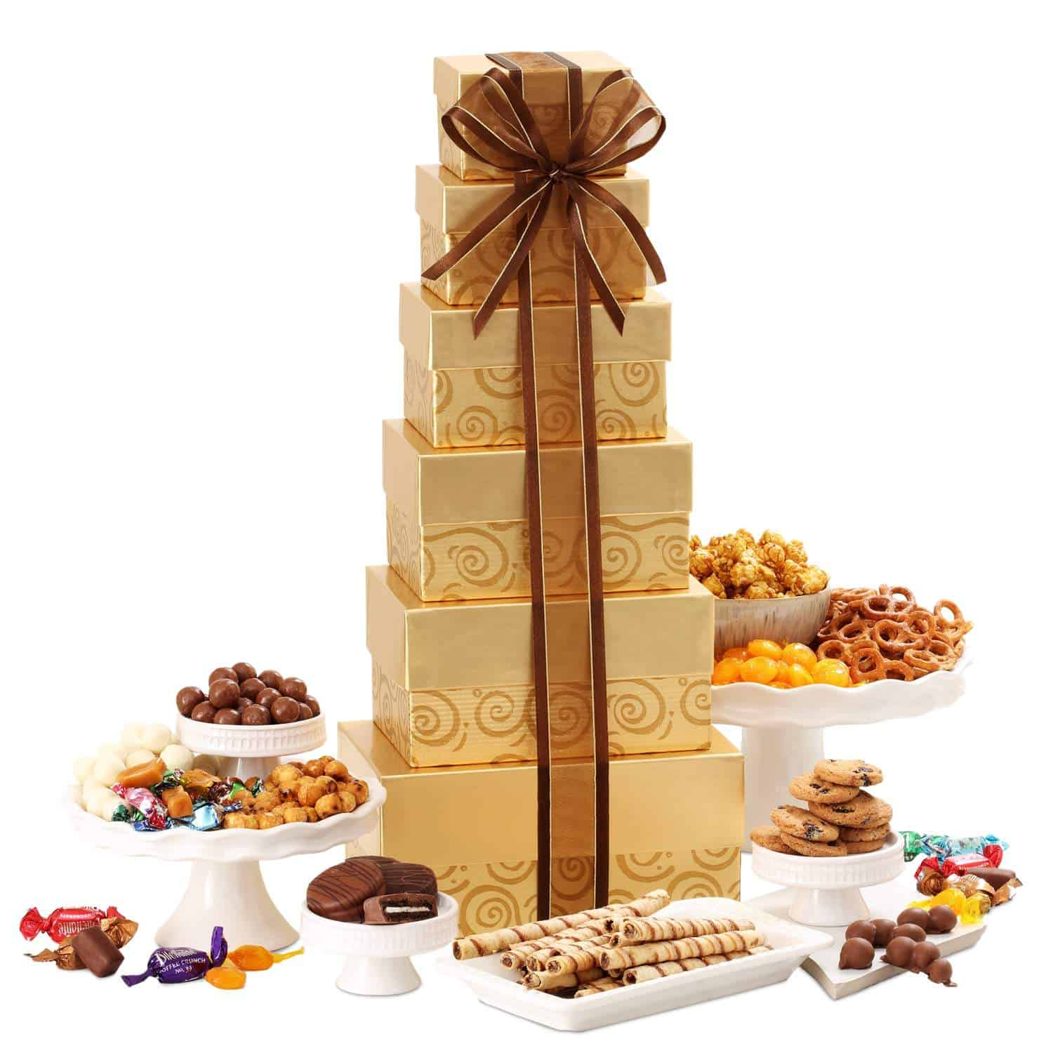 Gourmet Food Gift Bo Festive Tower Deluxe Sweets
