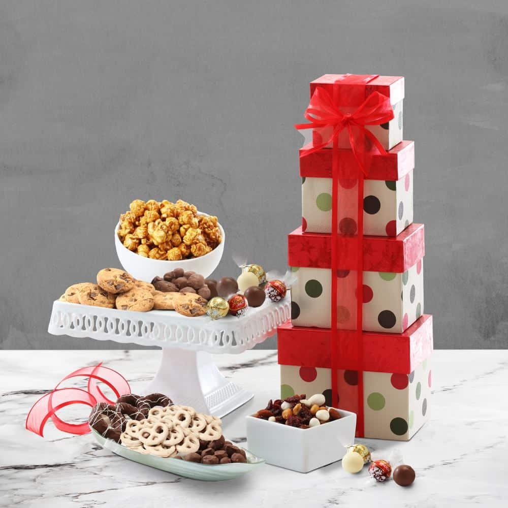 Holiday Cheers Gift Tower
