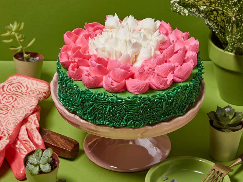 Gourmet Easter Flower Cake By Broadwaybasketeers Com