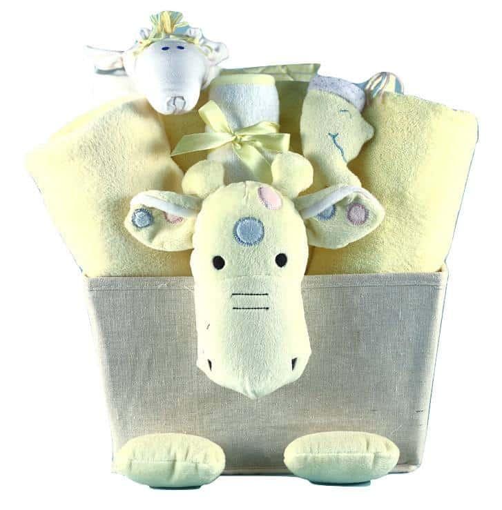 Baby Shower Giraffe Plush Gift Basket