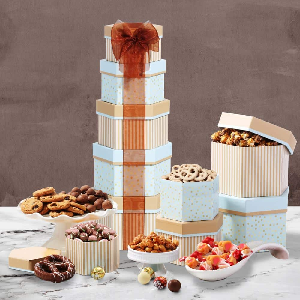 Celebration Gift Tower with Sweets Nuts and Chocolates