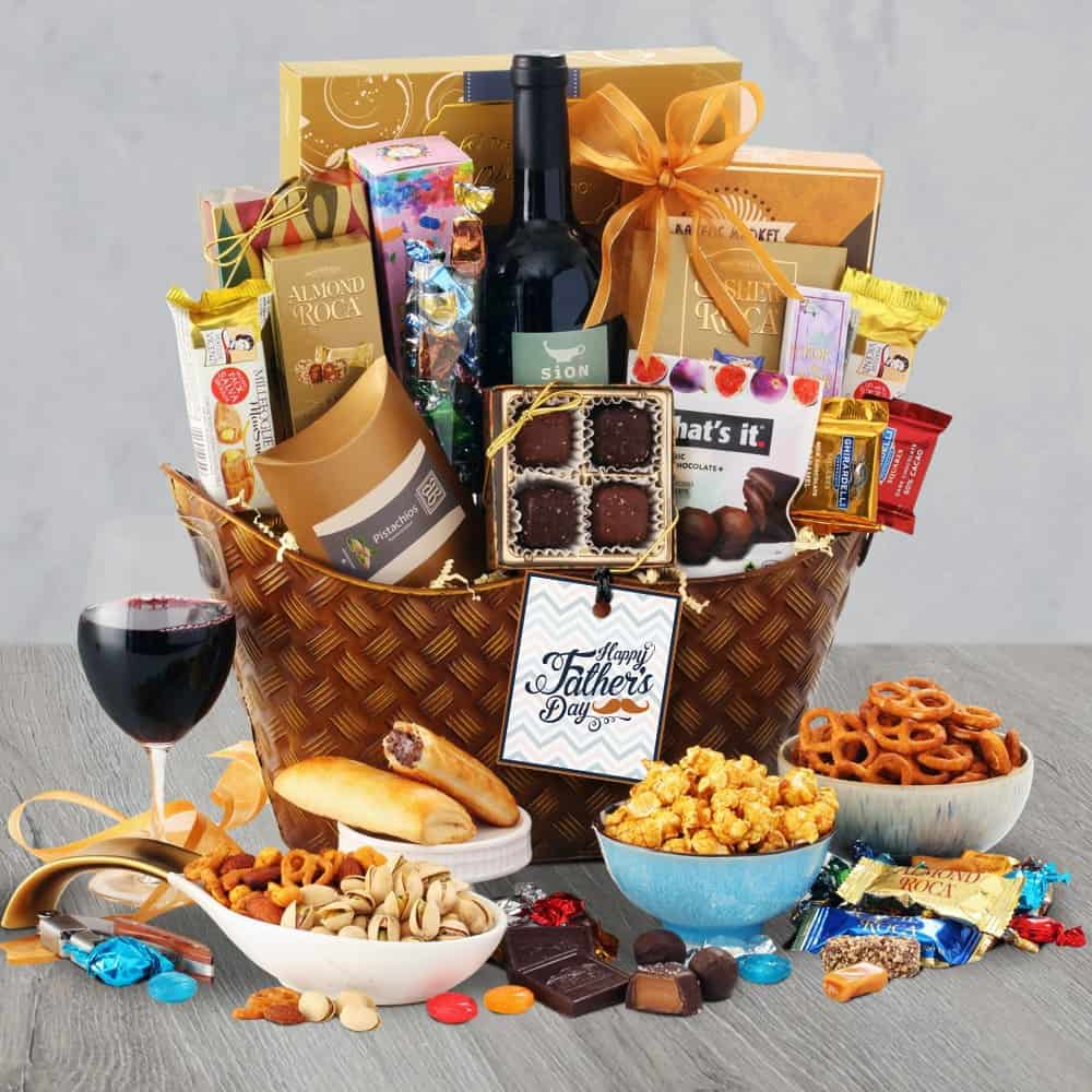 Fathers Day Wine Gift Basket