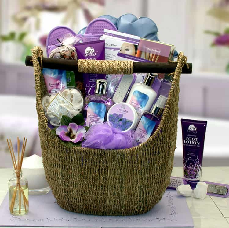 Lavender Spa Birthday Basket By BroadwayBasketeers