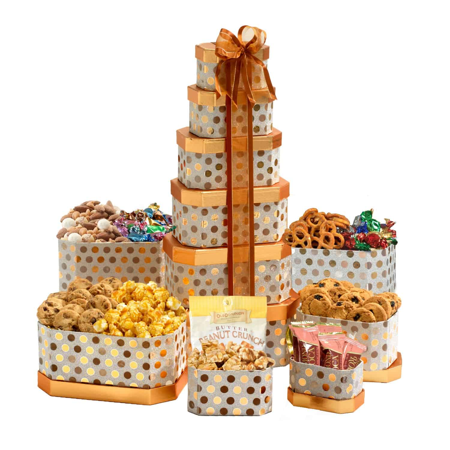 Elegance Birthday Gift Tower By BroadwayBasketeers