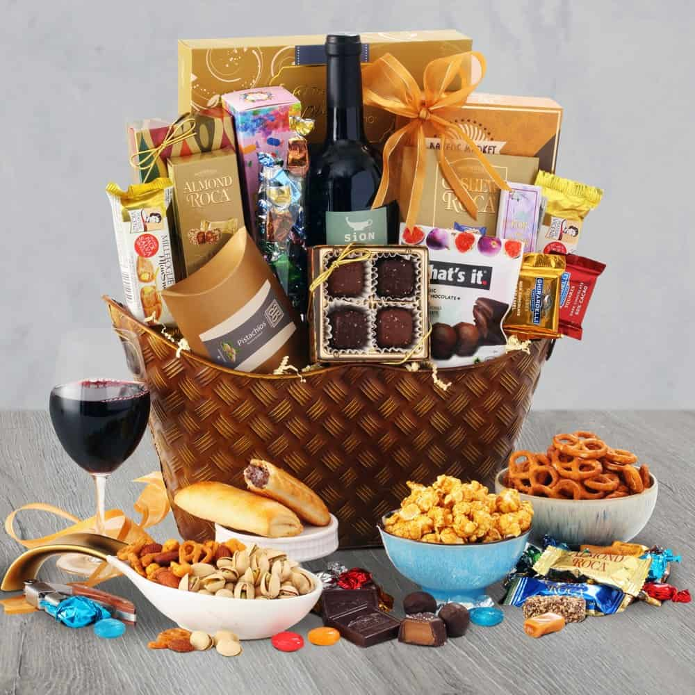 Warm Wishes Wine Gift Basket