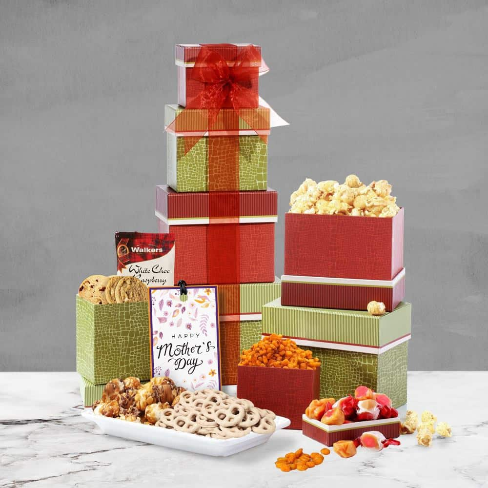 Mothers Day Celebration Gift Tower