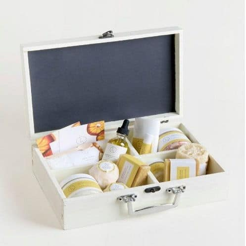 Amazing Spa Set In A Wooden Box - Citrus