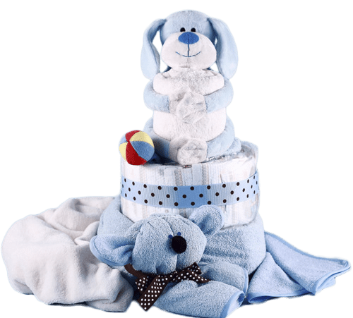 Baby Boy Puppy Pal Diaper Cake Gift