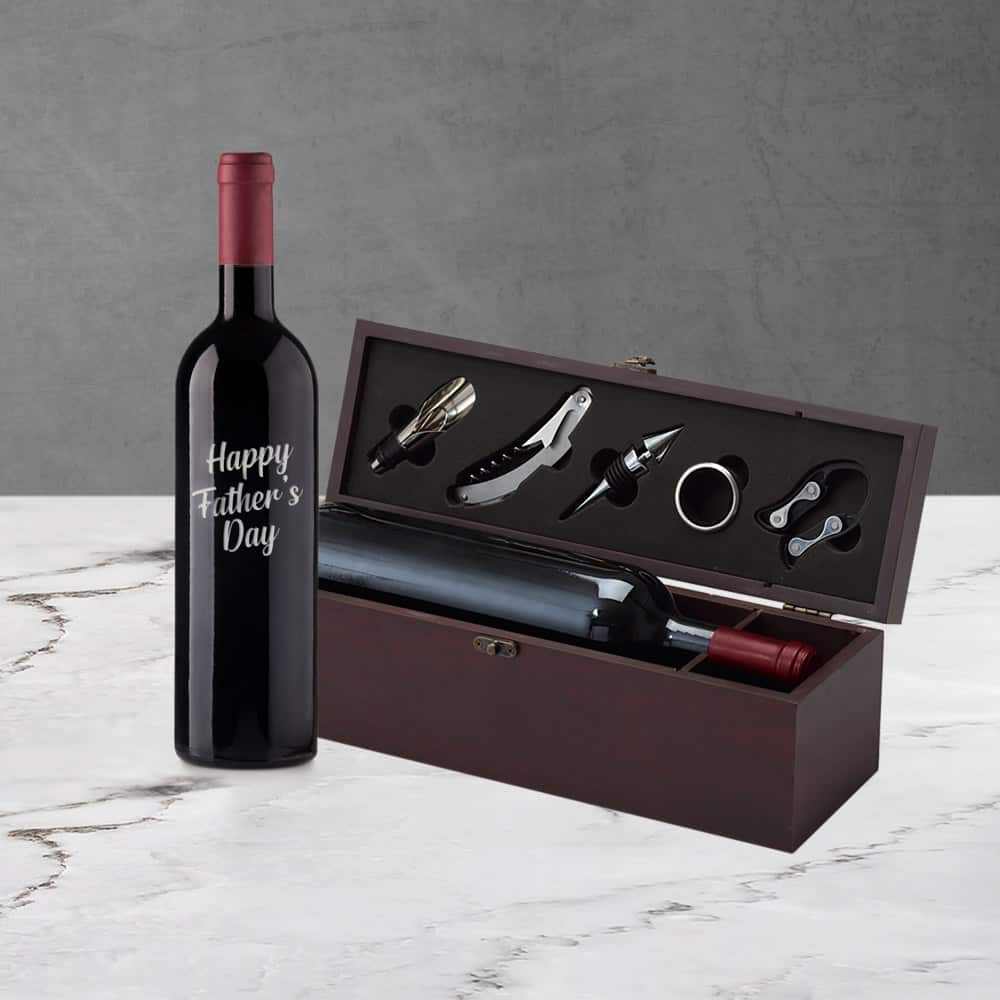 Fathers Day Engraved Wine Gift