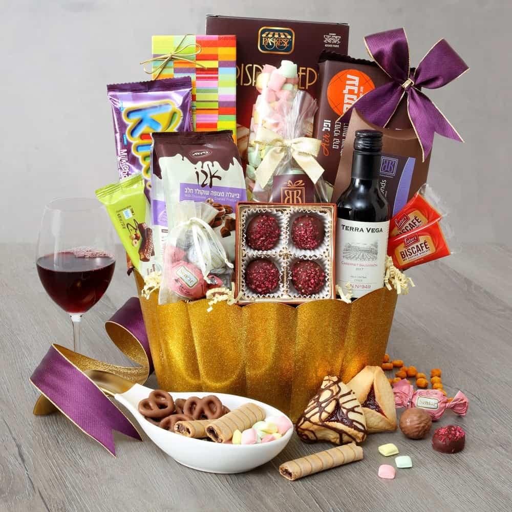 Luscious Lavender Purim Basket
