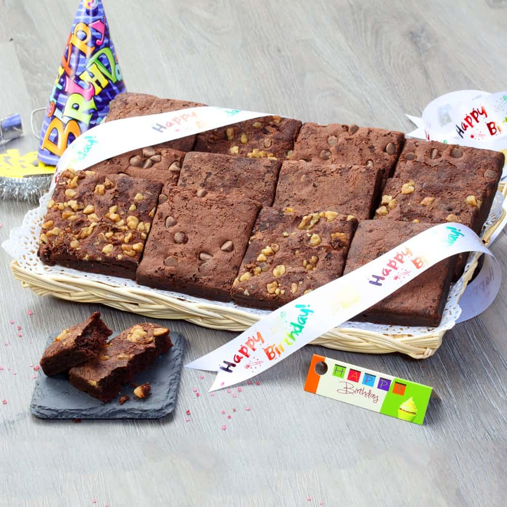 Chocolate Brownie Birthday Tray