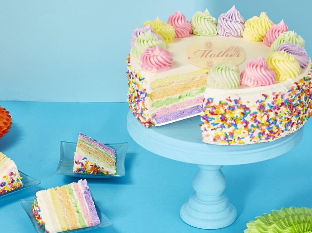 Mothers Rainbow Cake Delight