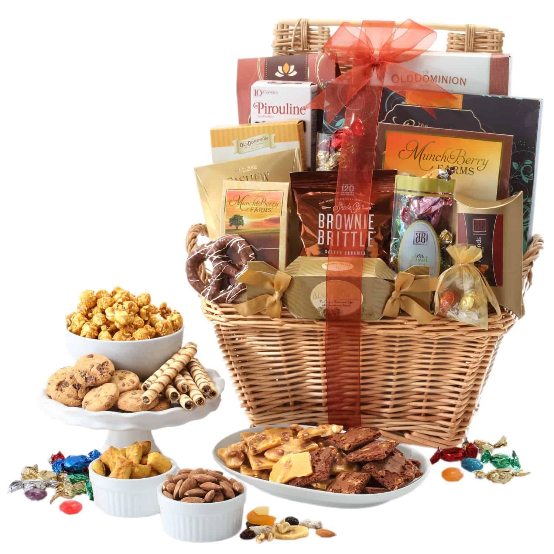Gourmet Wicker Gift Basket   Large Gourmet Gift Baskets