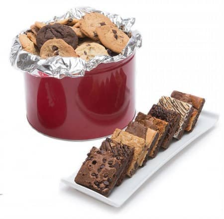 Fresh Baked Gourmet Cookies & Brownies Tin