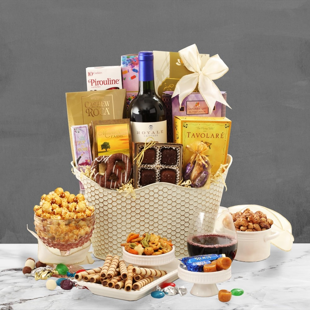 Merlot Wine Basket